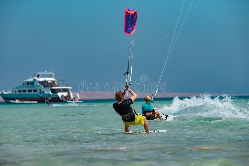 Kitesurfers In Action royalty free stock photos
