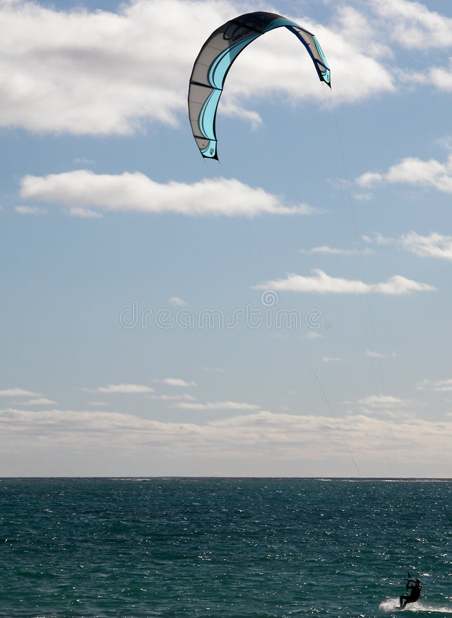 kitesurfing παράδεισος στοκ φωτογραφία με δικαίωμα ελεύθερης χρήσης