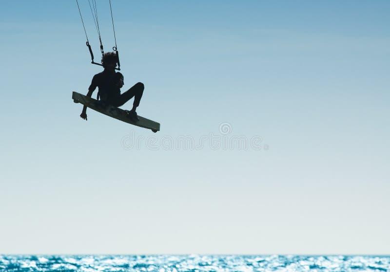 Kitesurfing stock fotografie