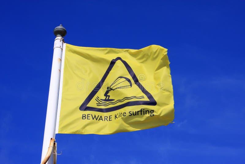 Kitesurfing Flag Stock Photo