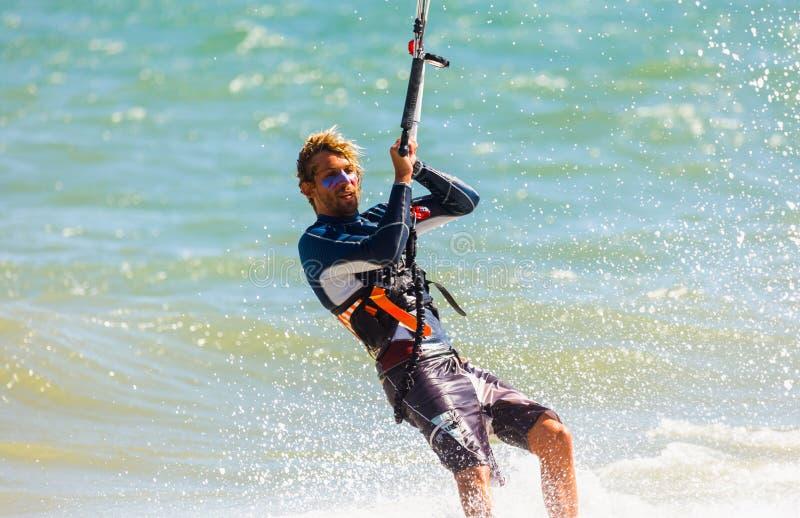 Kitesurfing, Kiteboarding action photos royalty free stock photos