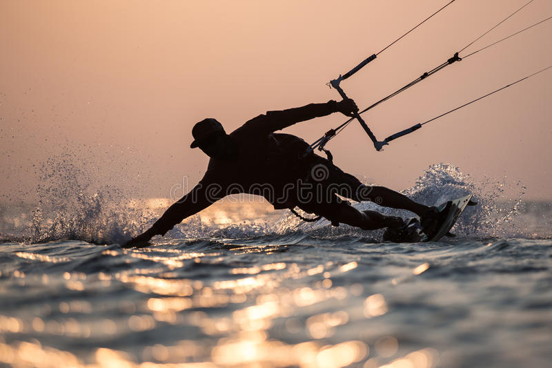 Kitesurfing. Various kitesurfing high arenaline action photos stock images