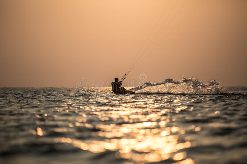 Kitesurfing. Various kitesurfing high arenaline action photos royalty free stock photo