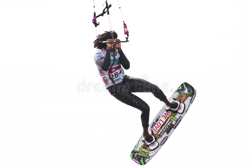 Kitesurfworldcup 2010 stock foto