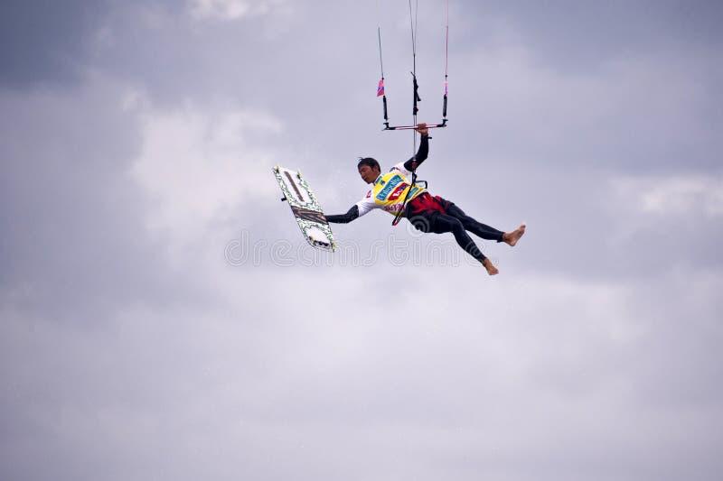 Kitesurfworldcup 2010 royalty-vrije stock afbeeldingen