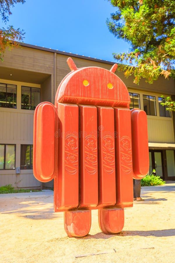 Kitkat de Google Android fotos de archivo
