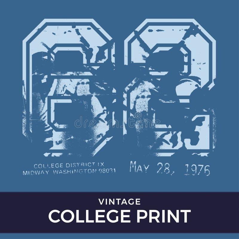 Kitschiger Collegedruck lizenzfreie abbildung