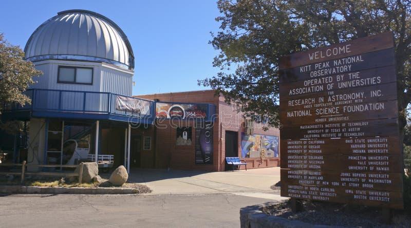 A Kitt Peak National Observatory Visitor Center. TUCSON, ARIZONA, FEBRUARY 28. Kitt Peak National Observatory on February 28, 2016, near Tucson, Arizona. The stock images