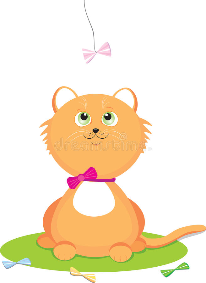 Download Kitten stock vector. Image of illustration, pets, cartoon - 19924373