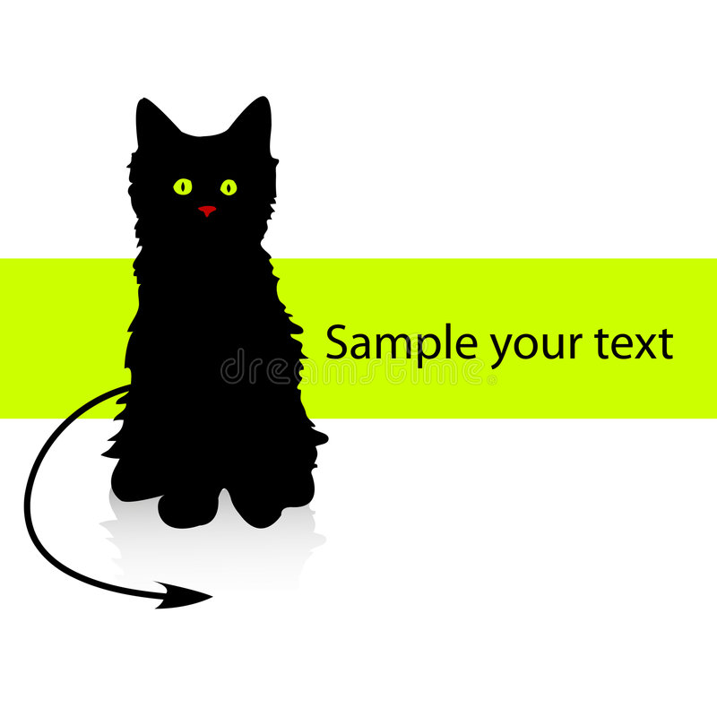Download Kitten stock vector. Image of style, paper, message, tranquil - 8094331
