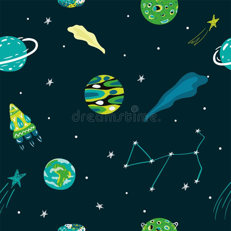 Space cat royalty free illustration