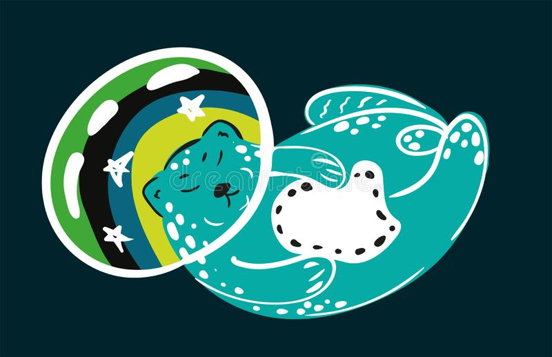 Space cat stock illustration
