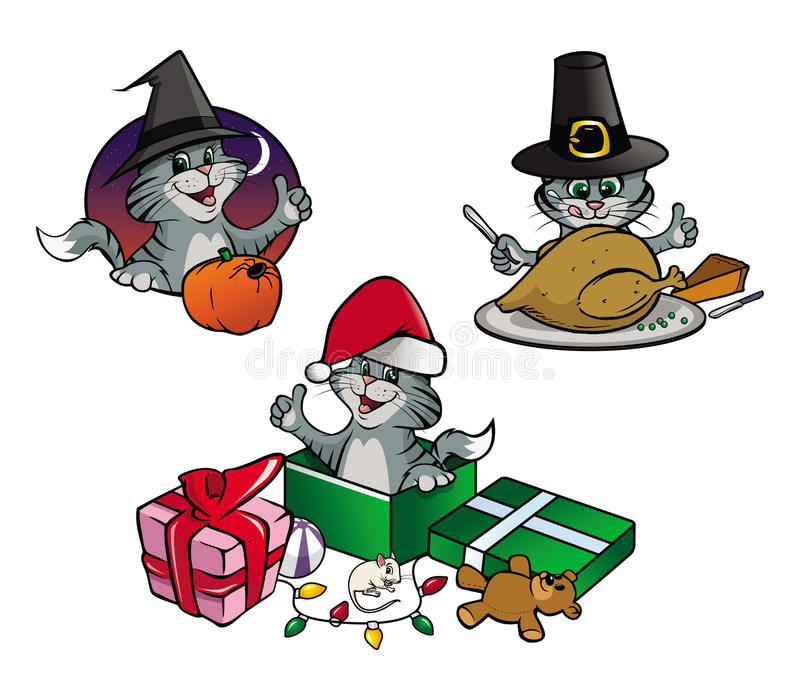 Kitten Holidays Royalty Free Stock Images