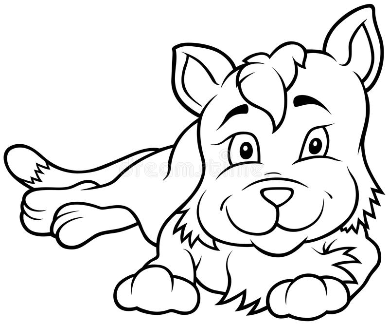 Kitten Laying royalty illustrazione gratis
