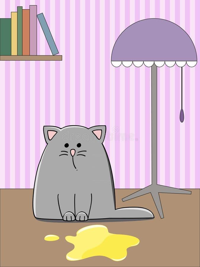 Download Kitten pool stock vector. Illustration of mammal, floor - 21946315
