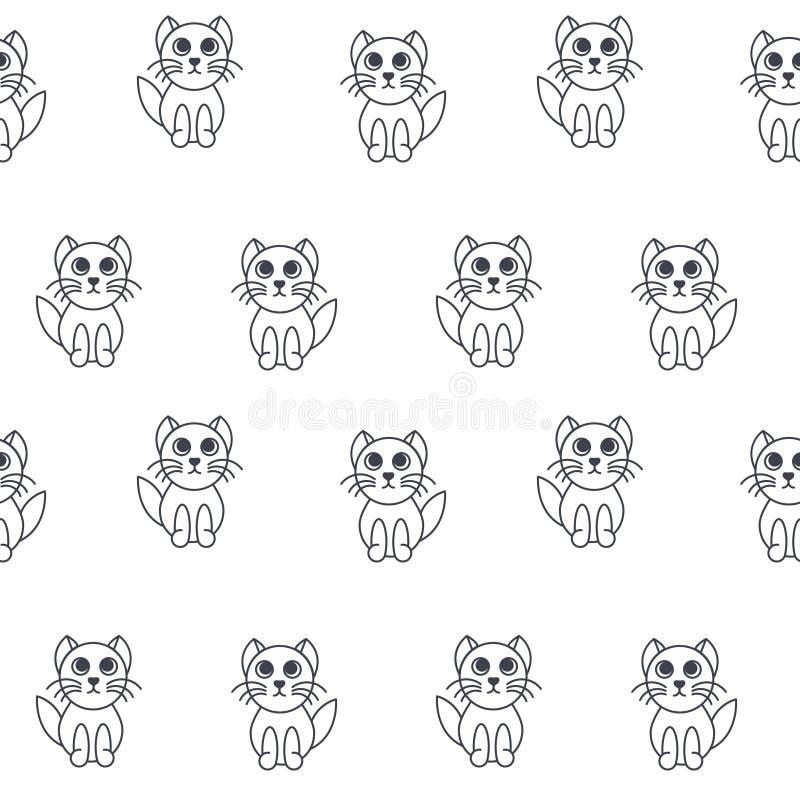 Kittens seamless pattern. royalty free illustration