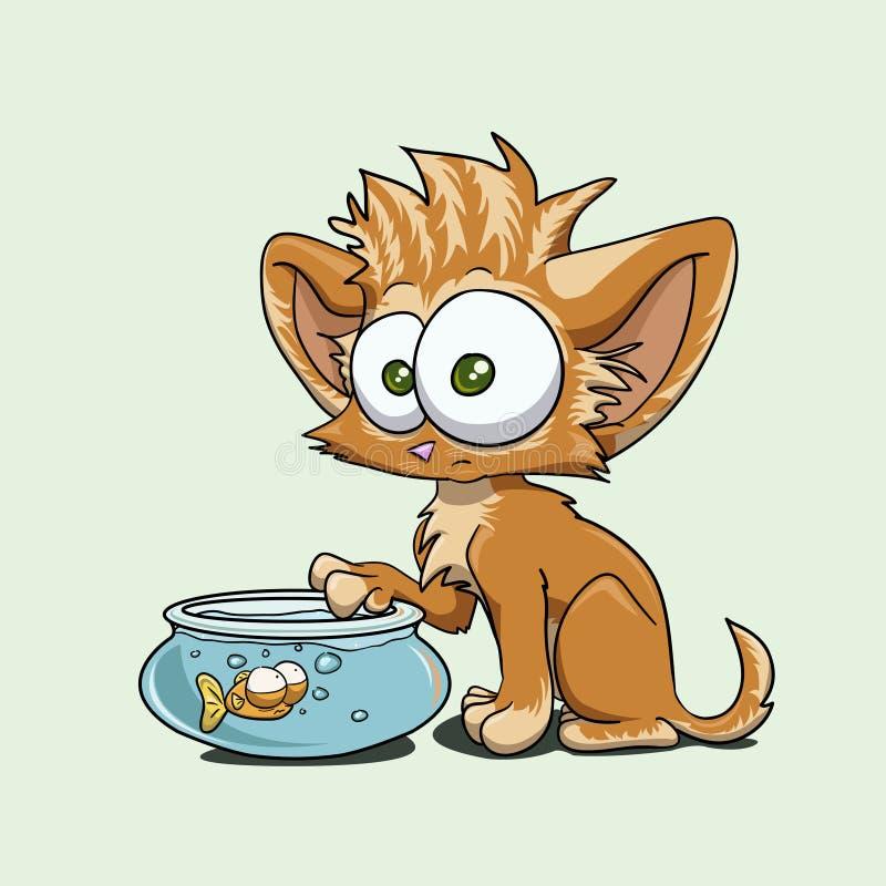 Kitty illustration de vecteur