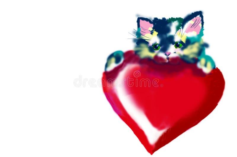 Download Kitty stock illustration. Image of drawn, kitten, little - 493361