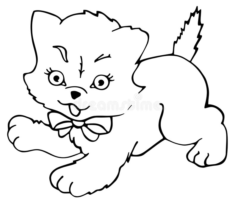 Download Kitty Cat - Outlined Royalty Free Stock Image - Image: 8151696