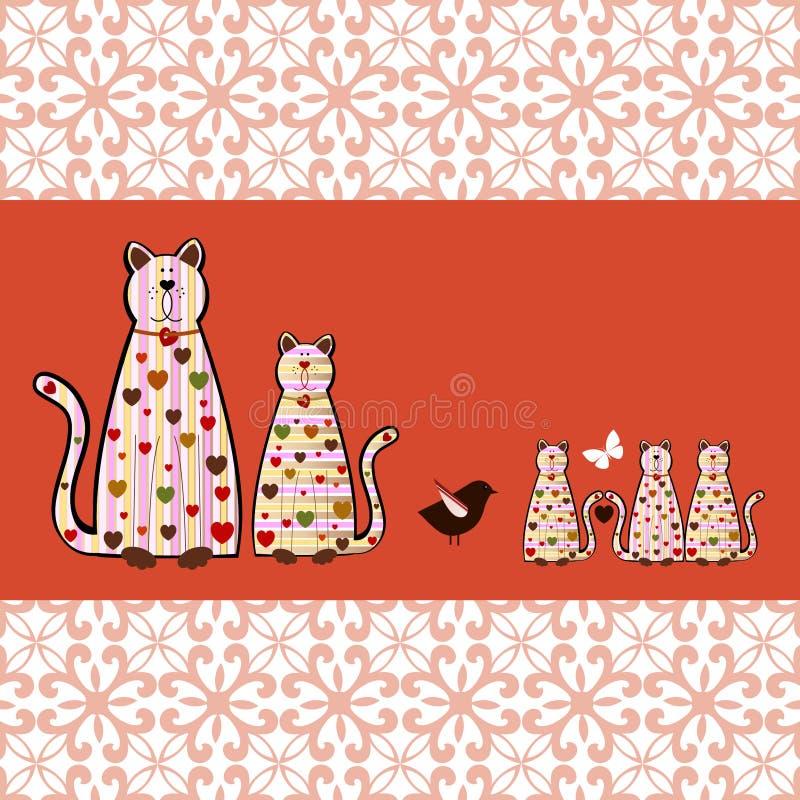 Kitty Cats illustration stock