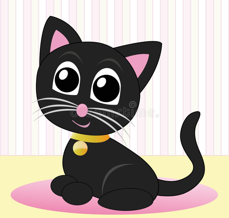Download Kitty With A Golden Necklace Stock Vector - Image: 13799483
