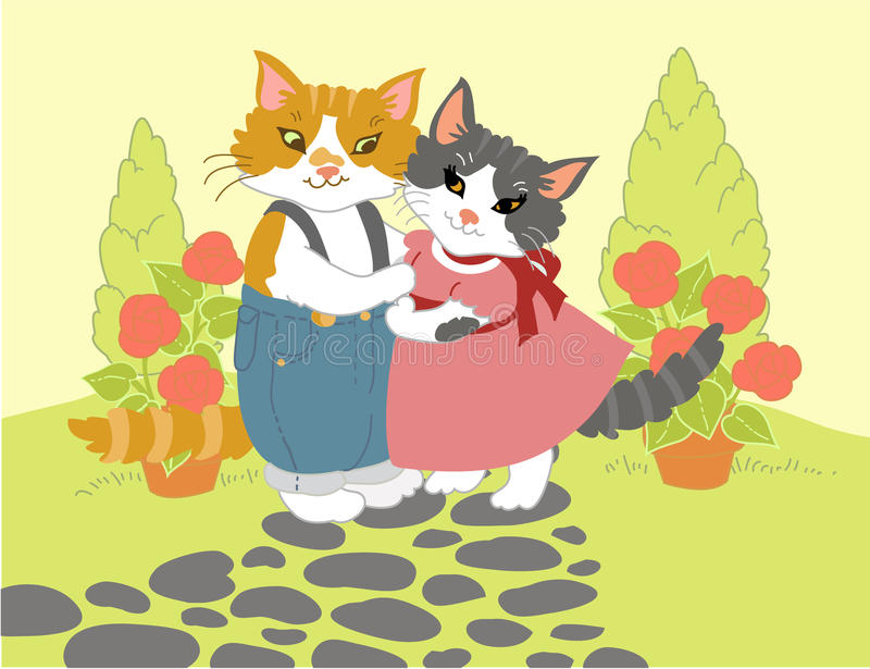 Download Kitty Hug stock vector. Image of wife, boyfriend, cute - 14274150