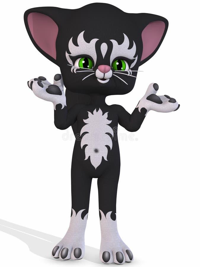 Kitty mignon - chiffre de Toon illustration stock