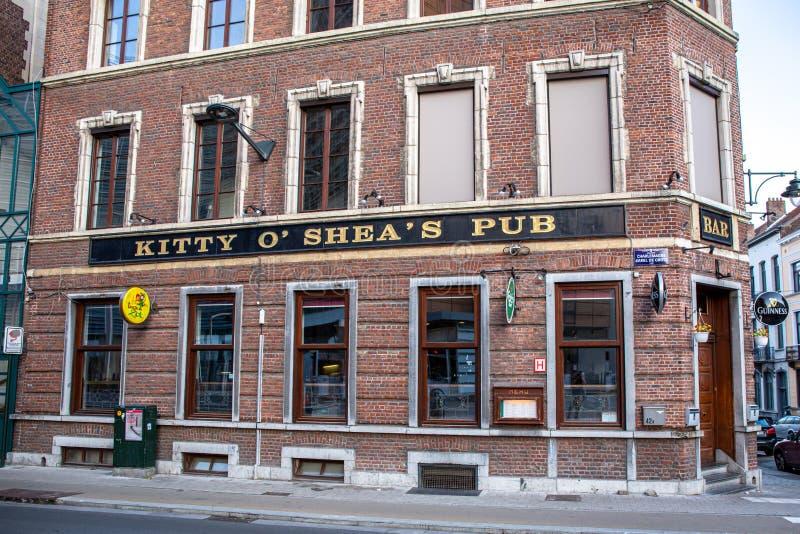 Kitty O'Shea pub w Brukseli zdjęcie royalty free