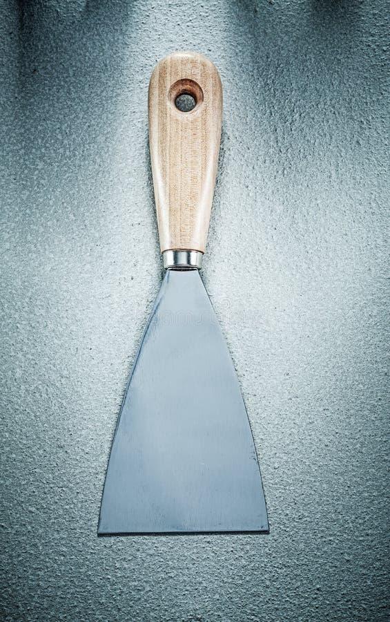 Kitu nóż na betonowym tło budowy pojęciu fotografia royalty free