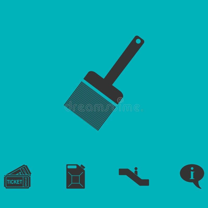 Kitu noża ikony mieszkanie ilustracja wektor