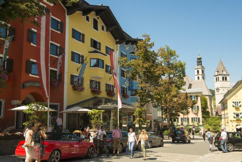 Kitzbuehl, Österreich lizenzfreies stockfoto