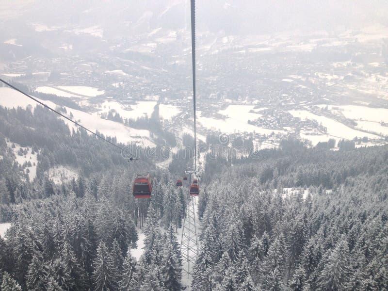 Kitzbuhel-Gondel lizenzfreies stockbild