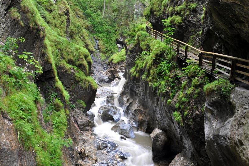 kitzlochklamm gorge стоковые изображения rf