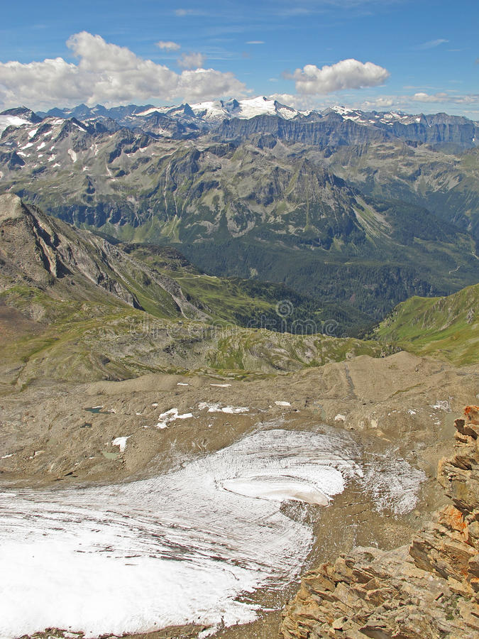 Free Kitzsteinhorn Glacier Panorama, Austria Stock Images - 22205204
