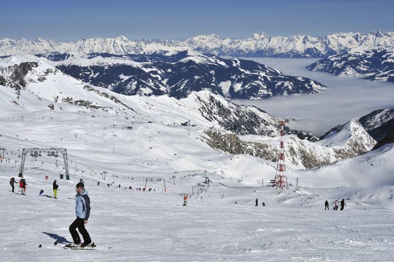 Kitzsteinhorn Ski Resort, tierra de Salzburger, Austria imagen de archivo libre de regalías
