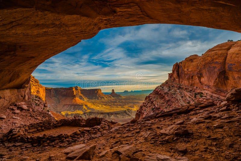 Kiva Canyonlands National Park falso imagem de stock royalty free