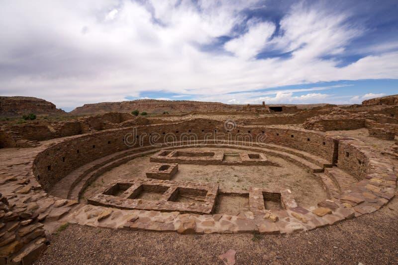 Kiva Ruins at Pueblo Bonito stock image