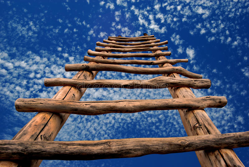 Kiva Strichleiter zum Himmel stockbilder
