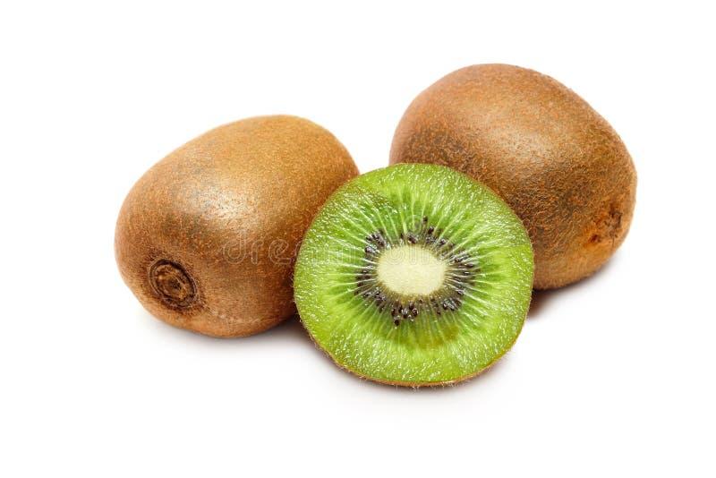 Kivi στο απομονωμένο άσπρο υπόβαθρο, υγιή φρούτα στοκ εικόνες
