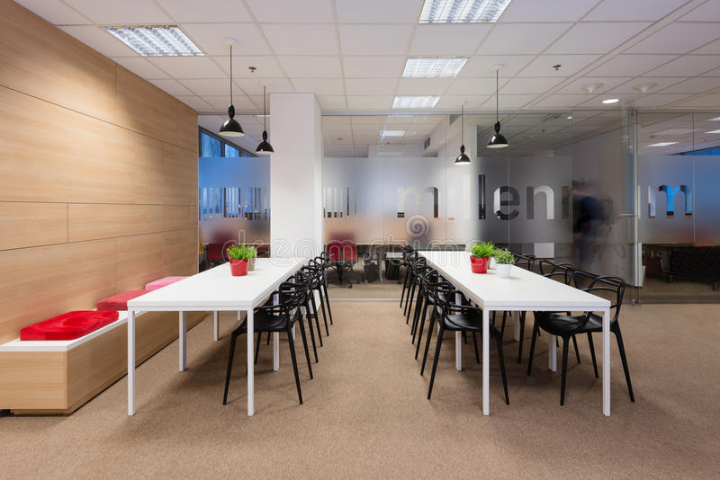 Kivvi建筑师创造的办公室内部,布拉索夫,斯洛伐克 图库摄影