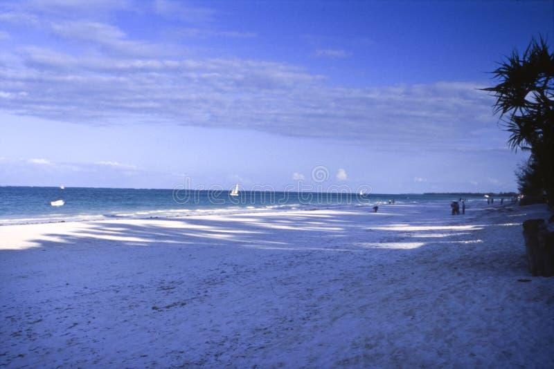 Kiwengwa beach in Zanzibar. Kiwengwa beachat the sunset, Zanzibar island, Tanzania, Africa stock image
