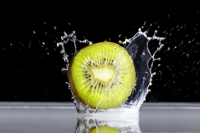 Kiwi. Is falling to the water royalty free stock photos