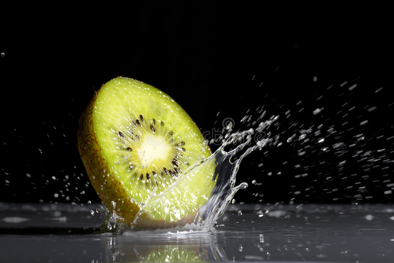 Kiwi. Is falling to the water royalty free stock images