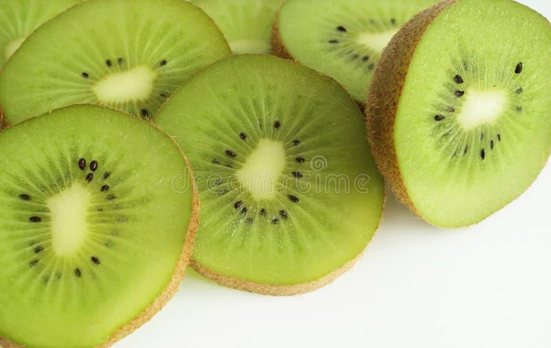Kiwi. Fruit cut in slices stock photos
