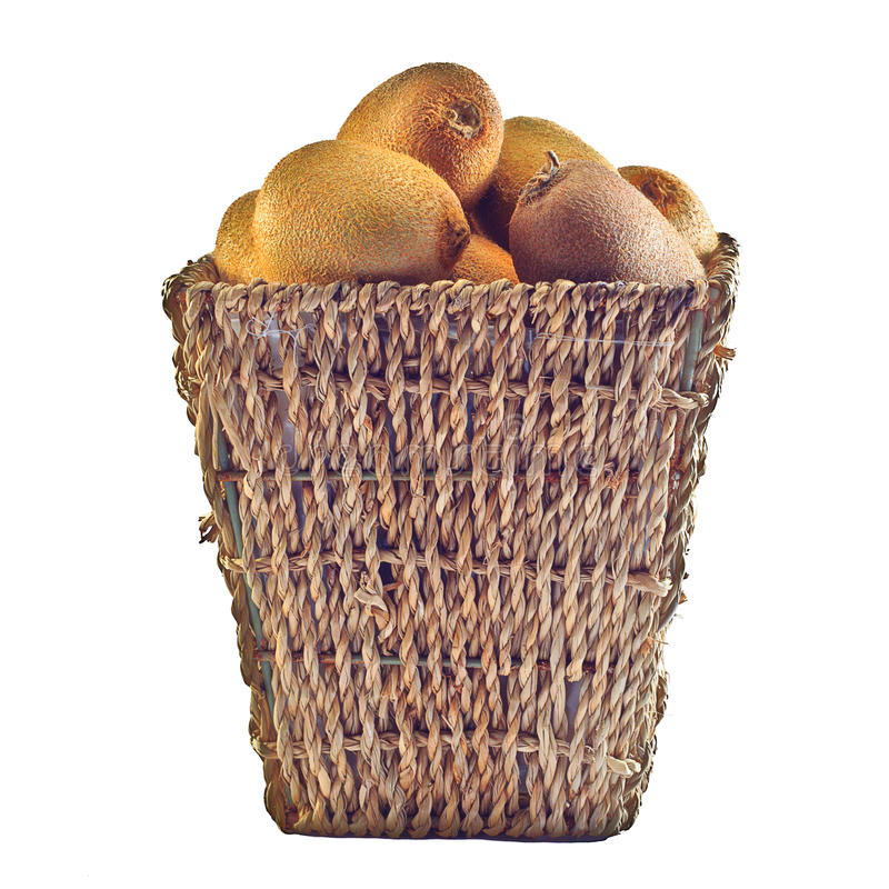 Kiwi basket royalty free stock image