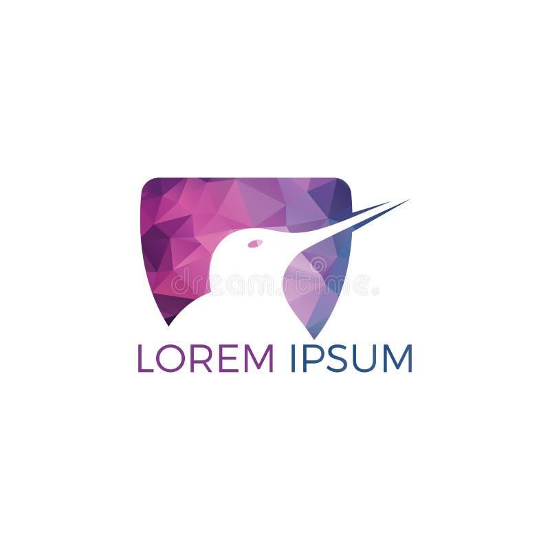 Kiwi bird vector logo design. Creative kiwi bird vector logo design template vector illustration