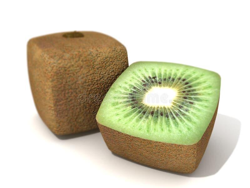 Kiwi cúbico stock de ilustración