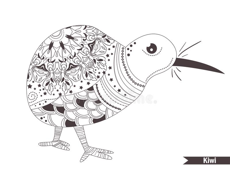 Great Download Kiwi. Coloring Book Stock Vector. Illustration Of Adult   100329828