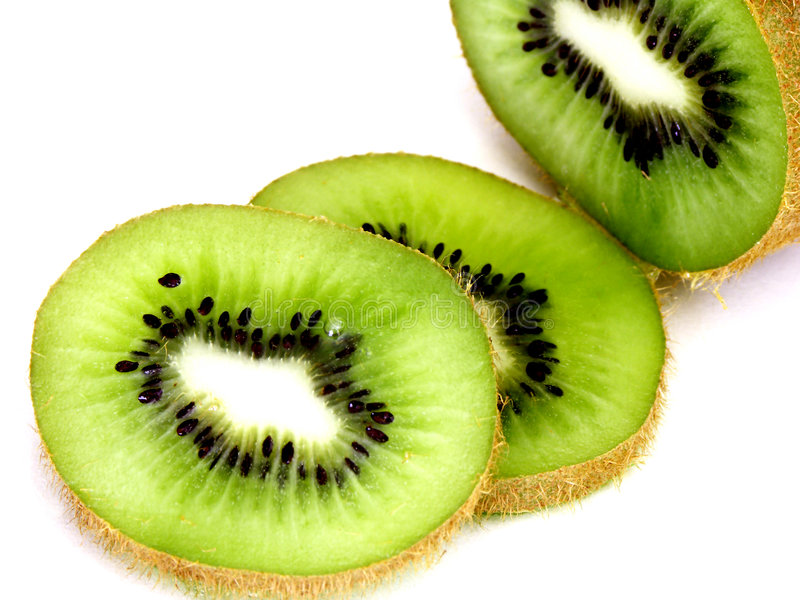 Kiwi Découpé En Tranches Photo stock