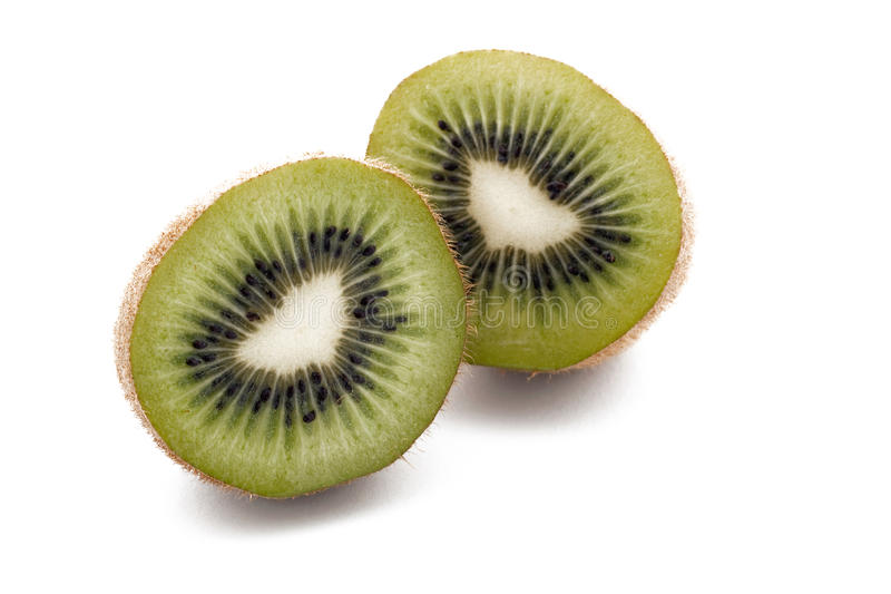 Kiwi d'isolement sur le blanc images stock